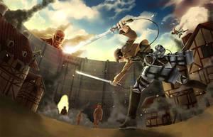 Attack on Titan by KurosakiSasori-kun