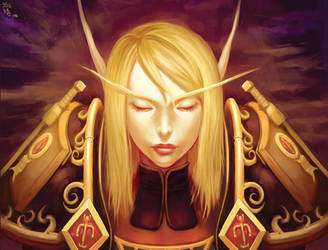 World of Warcraft: Blood Elf by shuqing
