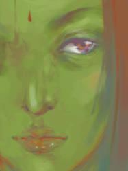 random'green'face by shuqing