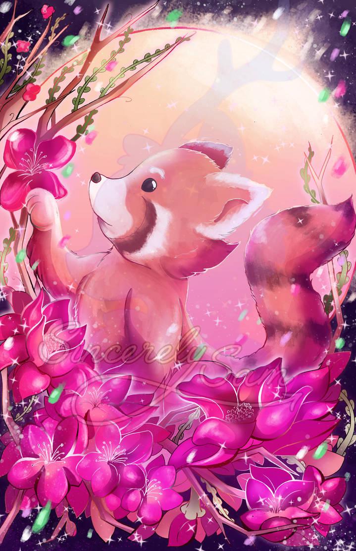 Red Panda Flowers by SamanthaSawyer ...