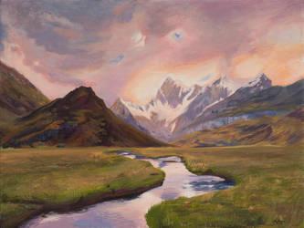 Limited Color Landscape by CLMac