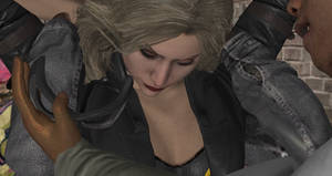 Black Canary and Batgirl Humilated by thugs (20) by integfred