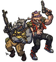 TMNT Rocksteady and Bebop by hugohugo