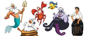 little mermaid characters by hugohugo