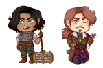 Taelia and Flynn Chibis by Cat2204
