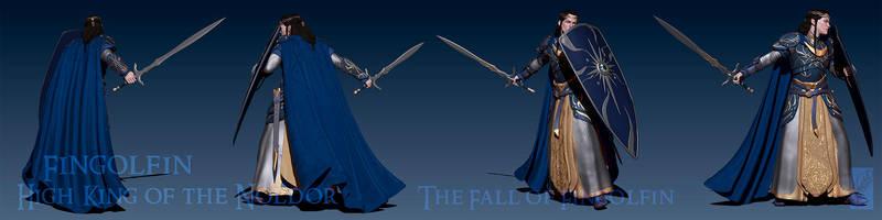 Fingolfin 3D Render - Turnaround by Breogan