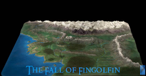 3D Map of Beleriand - 2 by Breogan