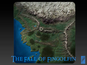 3D Map of Beleriand - 1 by Breogan