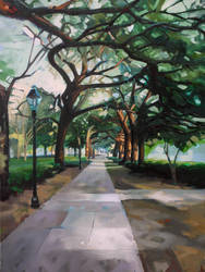 Evening in Forsyth Park by LS-1302