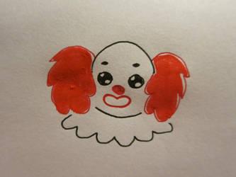 Inktober Clown by Elleiancole