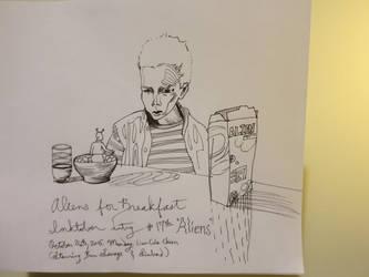 Aliens for Breakfast by Elleiancole