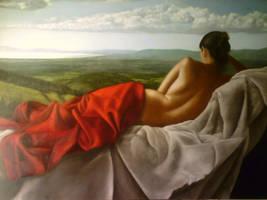 Nudo con Paesaggio by degas74