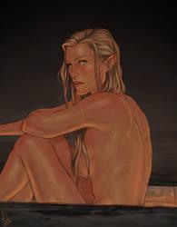 Celaena's scars by Merwild