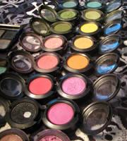 MAC eyeshadows by vonfukk