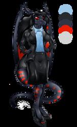 Commission :- Gabriela Rainystorm (work dress) by darkbeliever95
