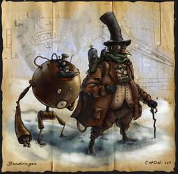 Steampunk Penguin Professor by Bendragonx