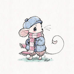 :: little scarf mouse by aprilovebird