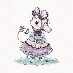 :: little ribbon mouse by aprilovebird