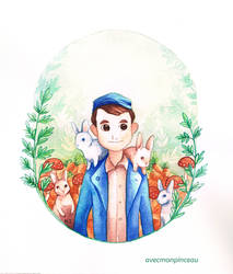 Etienne's world - his rabbits by avecmonpinceau