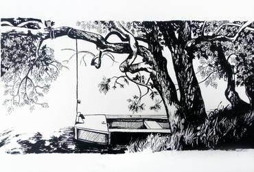 La barque du portillon by avecmonpinceau