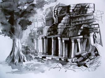 temple perdu by avecmonpinceau