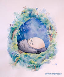 Mon voisin Totoro by avecmonpinceau