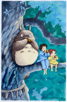 Tonari no Totoro by avecmonpinceau