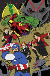 Cap America and the Avengers: Age of Ultron by jimferno