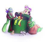 TMNT Secret Santa 2013 - ZarrannaMorza by HayaMika