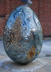 giant mosaic egg by objekt-stock