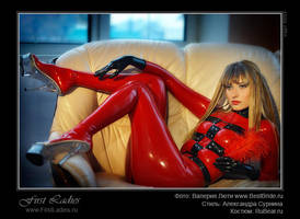 Red Catsuit by latex-rat