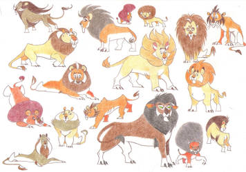 Big Fluffy Lions by Dead-Raccoons
