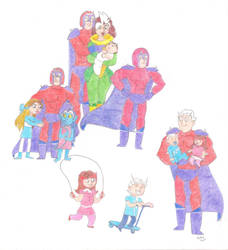 Magneto's Family by Dead-Raccoons