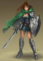 Knight Lady by denn18art
