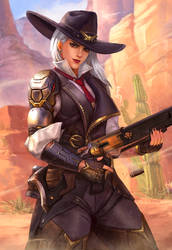 Ashe, Leader of the Deadlock Gang by denn18art