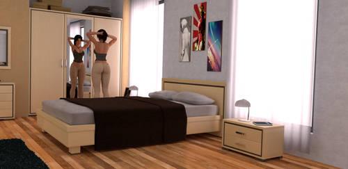 Lara Croft - Bedroom Cycles by Major-Guardian