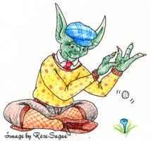 Yoda Sets up His Shot by RoseSagae