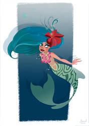 Tiger Mermaid by Ztoical