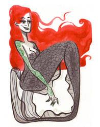 Inktober Mermaid 02 by Ztoical