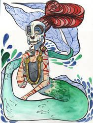 Skull Mermaid by Ztoical