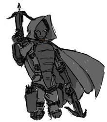 Shadow Stalker Sketch by CrashLegacy
