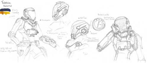 Technician Hazard Suit Concept by CrashLegacy