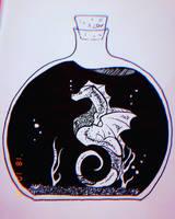 INKTOBER Day18-Bottle by Lerya-42
