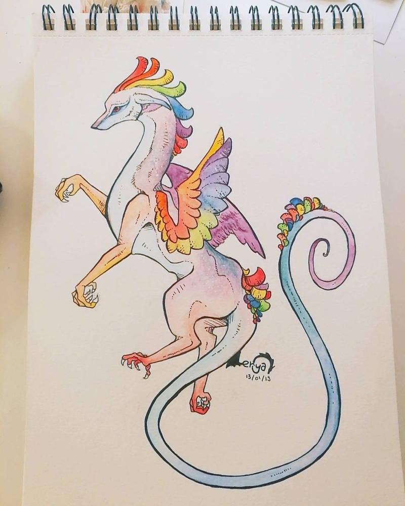 Dragon Perroquet by Lerya-42