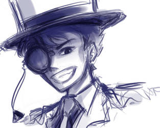 Kaitou Kid Sketch by katrucci