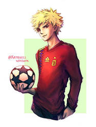 World Cup AU: Bakugou by katrucci