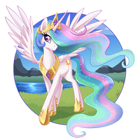 Princess Celestia by MetalPandora