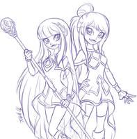 collab sketch: Princesses Of Xeris by MetalPandora