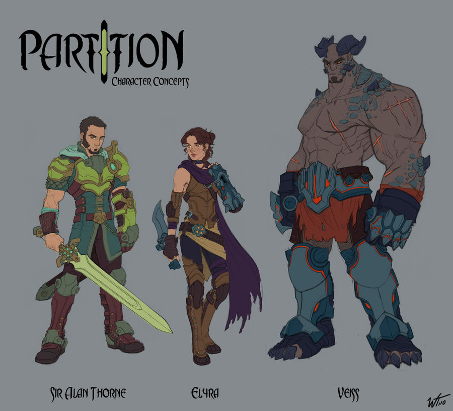 PartItion- Characters Colors by WesTalbott