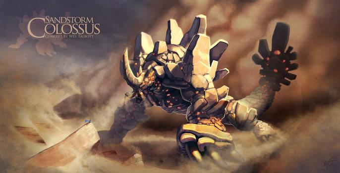 Sandstorm Colossus -Earth by WesTalbott